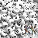 Korálky s písmenky - celá abeceda - ∅ 7 x 4 mm