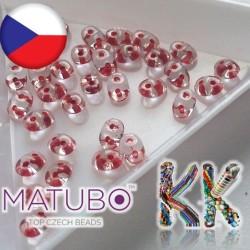 MATUBO™ SUPERDUO - průhledné s průtahem - 2,5 x 5 mm