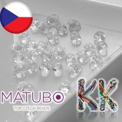 MATUBO™ SUPERDUO - průhledné - 2,5 x 5 mm