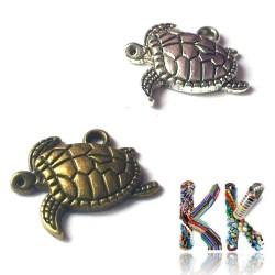 Přívěsek želva - z boku - 17 x 20 mm
